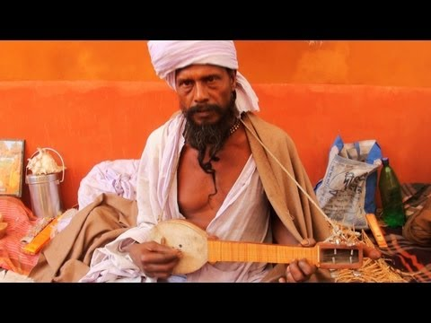 Baul Singer Smoking Hemp