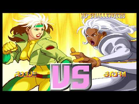 X-Men vs Street Fighter ( Arcade ) - Rogue / Storm Playthrough ( Apr 14, 2018 )