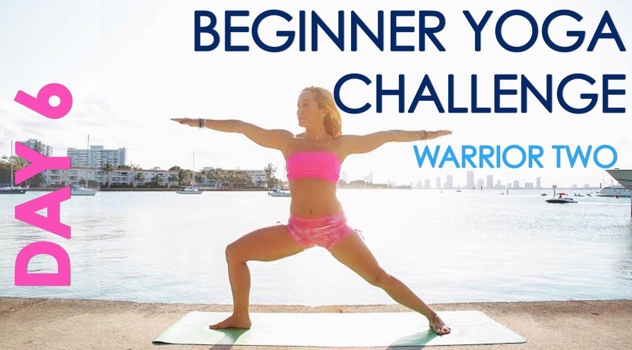 Day 6 Beginner Yoga Challenge Warrior Two