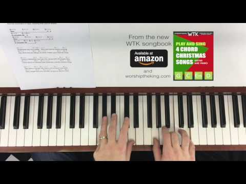 Angels We Have Heard on High Easy Piano Chord Version for Christmas