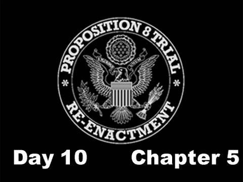 Prop 8 Trial Re-enactment, Day 10 Chapter 5