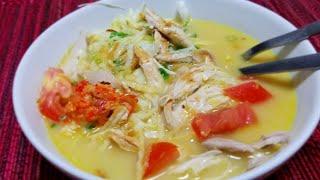 Soto Ayam Simple & Kilat. Masakan disaat lagi kurang enak Badan.