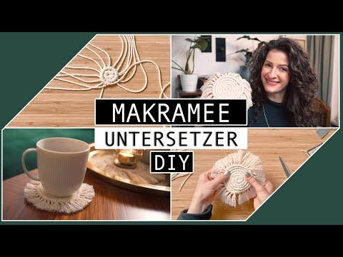 Makramee-Untersetzer ganz einfach