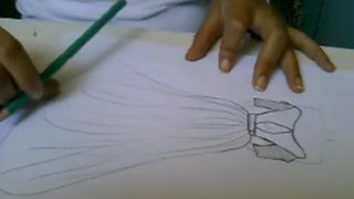 how to draw a dress 3