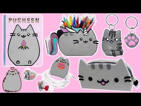 DIY PUSHEEN School Supplies, Earphones, Organizer And BFF Keychains Cute And Kawaii