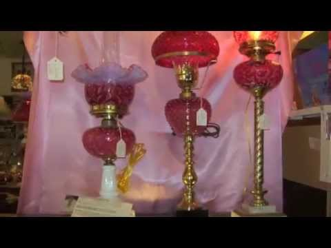 Fenton Glass Lamp Shades & Lamps