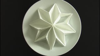Repeat youtube video plier une serviette en poinsettia! origami  fold napkins