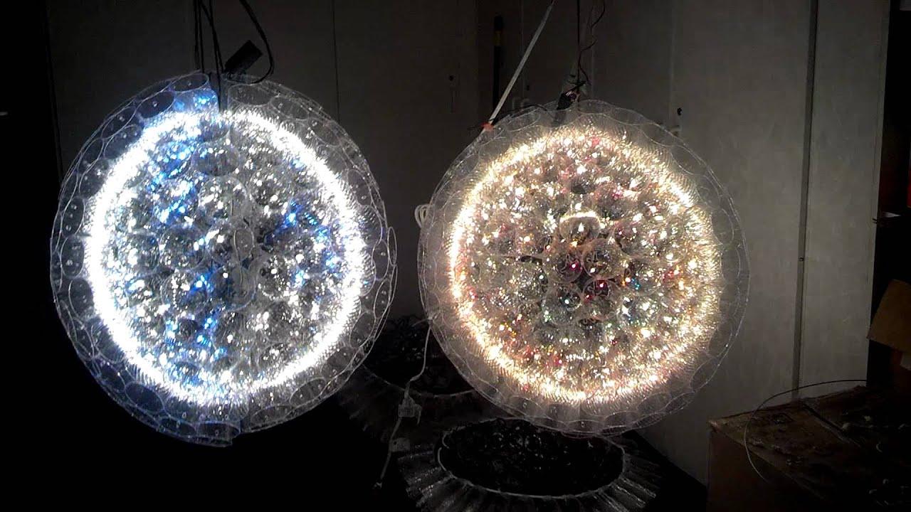 Giant christmas sparkle balls youtube