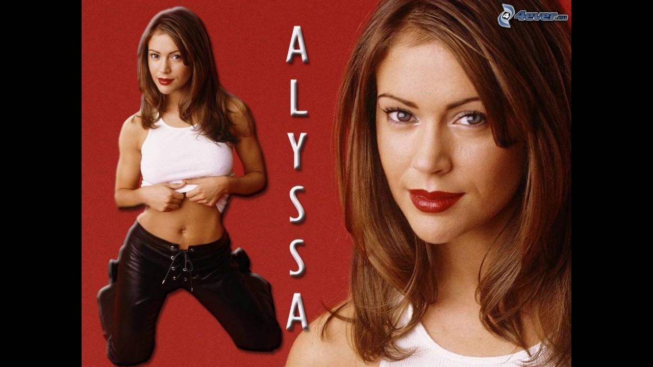 Alyssa Milanos Belly Button Youtube