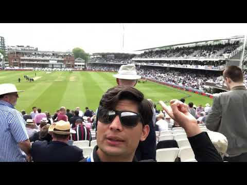 Flag of Afghanistan waving for the first time at Lords Cricket Ground London