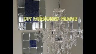 DIY Huge Mirrored Frame: Dollar Tree  Friendly $15.00