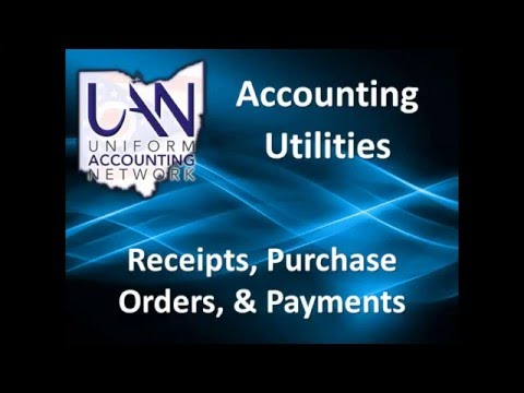 Accounting Utilities – Receipt  PO Payment