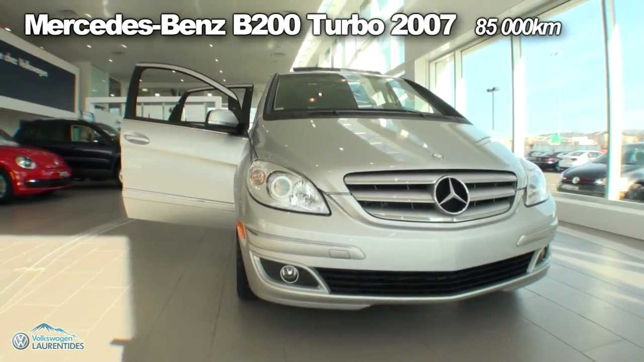 MercedesBenz B200 Turbo 2007  YouTube
