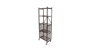 Origami Steel Folding 2Drawer Pantry Rack with Wheels