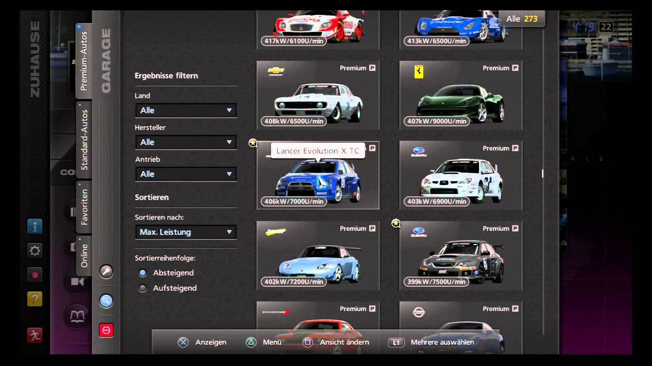 gran turismo 5 premium car list youtube. Black Bedroom Furniture Sets. Home Design Ideas