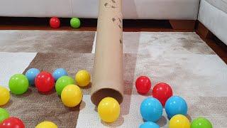 Berat Topları Tünelden Kaydırdı. Eğlenceli Çocuk Videosu