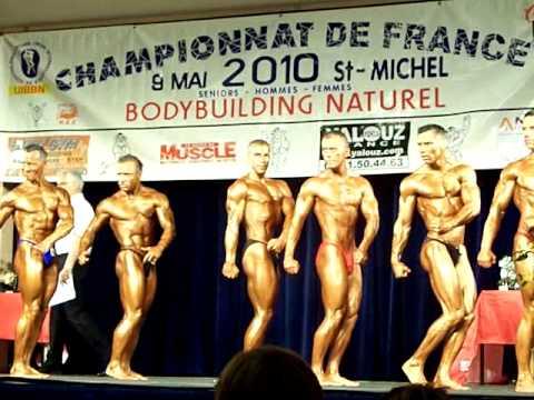 Claude in Champion De France Natural Body Building Posing - 70kg