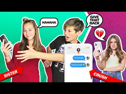 My Sister Controls My Life For 24 Hours CHALLENGE **She Texts My CRUSH**💔📱|Walker Bryant
