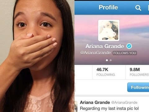Ariana Grande Followed Me On Twitter!