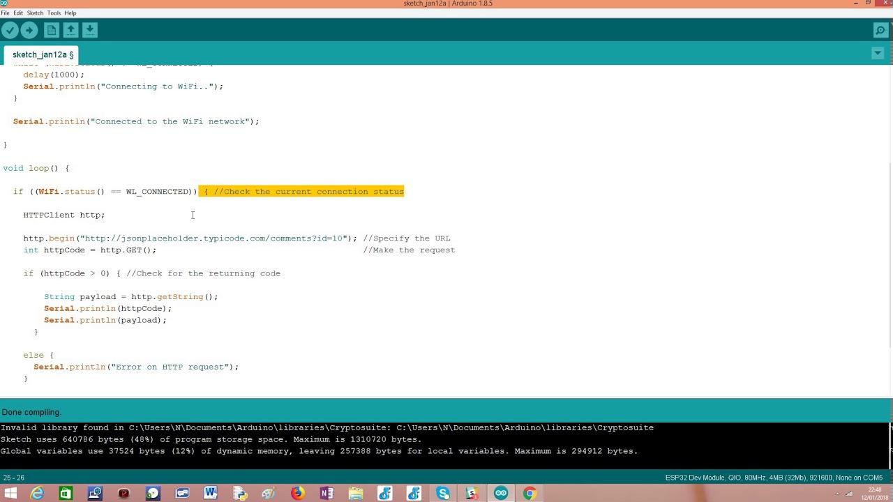 ESP32: HTTP GET Requests – techtutorialsx