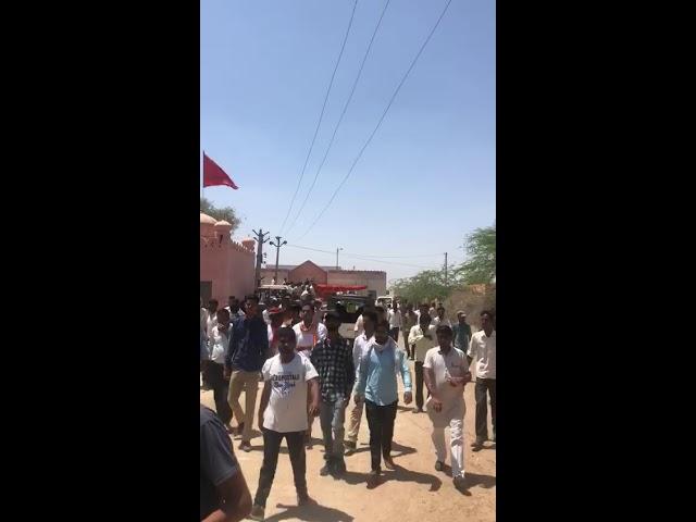 श्री कोलायत के गांव मण्डाल चारनाण में भाजपा प्रत्याशी का विरोध