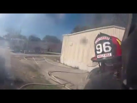 helmet cam house fire with explosion