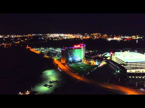 Night Flight Over Downtown Omaha
