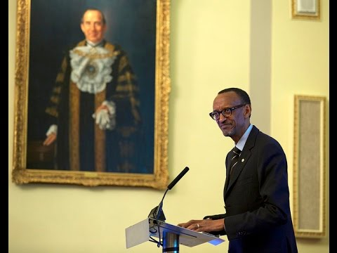 President Kagame addressing over 300 investors at the UK-Rwanda Trade and Investment Forum held