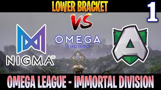 EPIC 43 HP THRONE COMEBACK!! Nigma vs Alliance Game 1 | Bo3 | LB OMEGA League | DOTA 2 LIVE