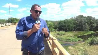 Desmoronou hoje parte da varanda da ponte sobre o rio Jaguaribe na  comunidade de Genipapero, estrad