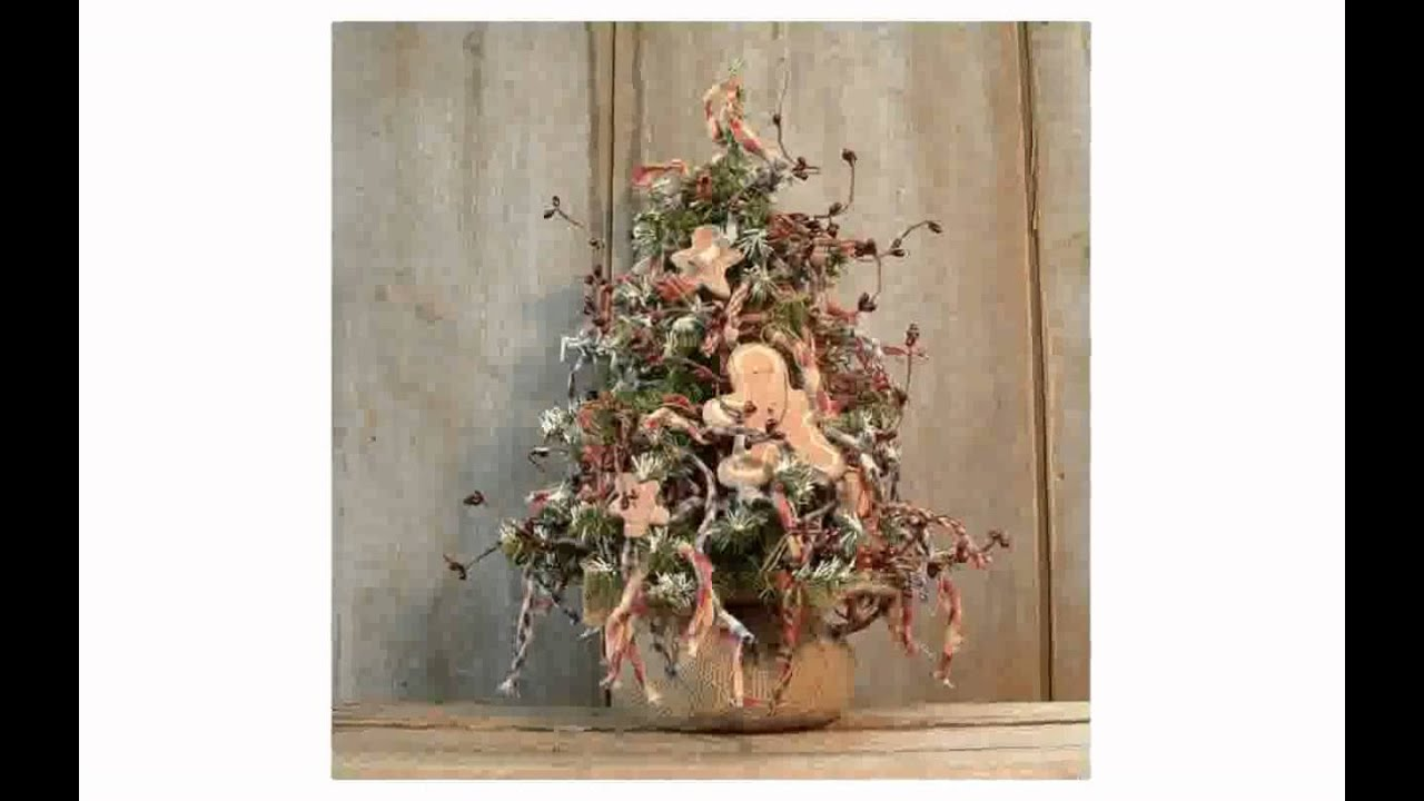 Primitive Christmas Decor - lilolarada - YouTube