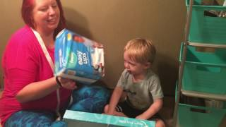 My Toddler Unboxing New Pampers Easy Ups for Potty Training