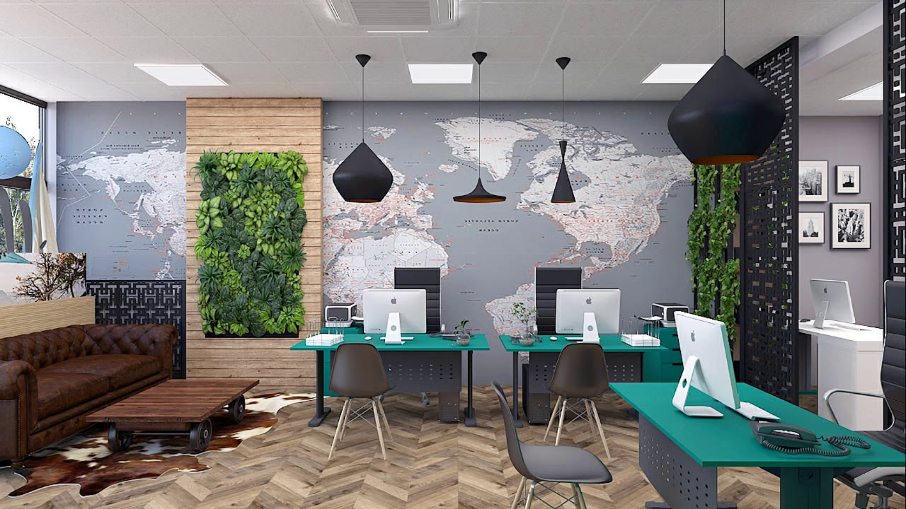 interior design office travel agency globuses