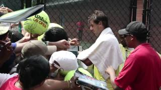Rafael Nadal meets wild fans at the US Open