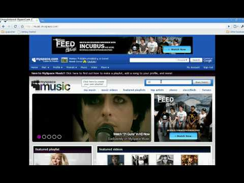 How to put music on myspace