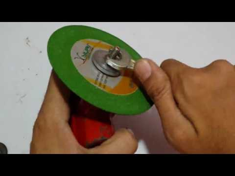 How to use cutting disc with drill machine,  DIY