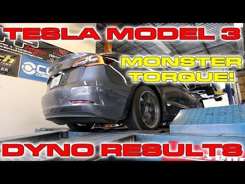 Tesla Model 3 on the Dyno puts down big Torque Numbers!
