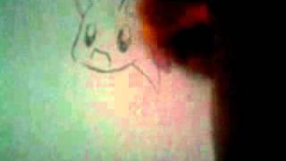 drawing chibi sonic on my door