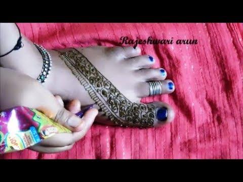 Leg Mehndi Designs Step By Step : Step by henna mehndi designs for legs simple