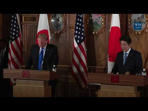 President Trump Participates in a Joint Press Conference wit