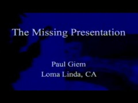 The Missing Presentation 3-30-2013 by Paul Giem