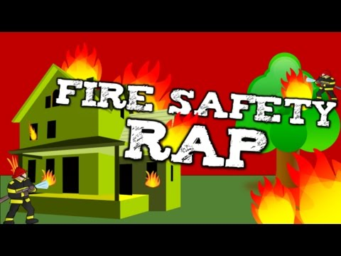 FIRE SAFETY RAP!  (song for kids about fire safety, calling