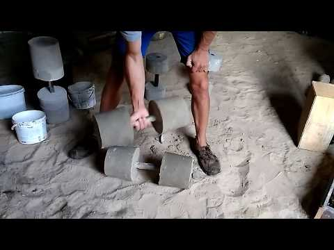 Гантелі з бетону своїми руками (Гантели из бетона своими руками)
