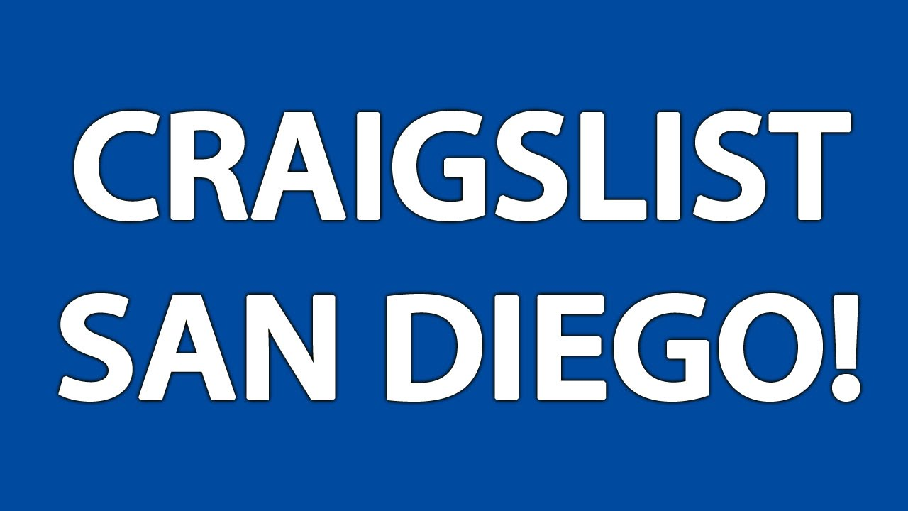Craigslist San Diego YouTube