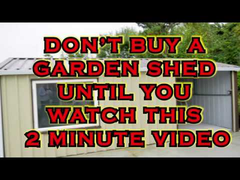 Insider secrets about steel and metal garden sheds