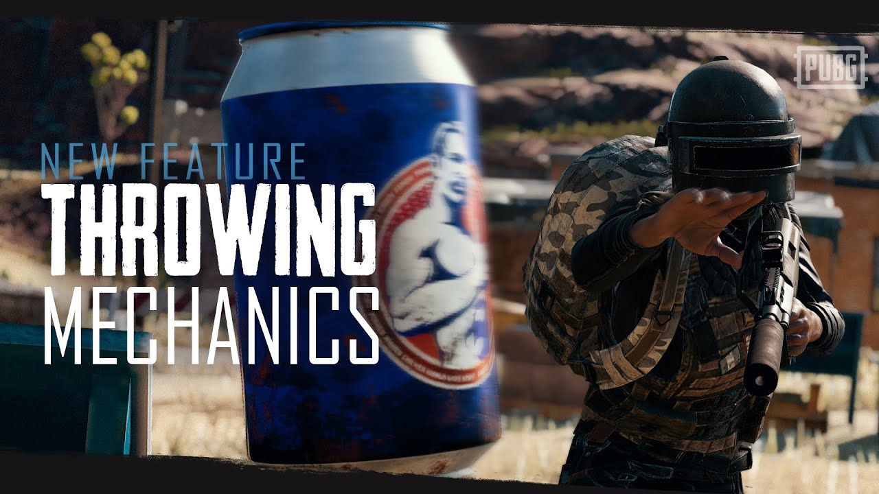 PUBG – New Feature – Throwing Mechanics