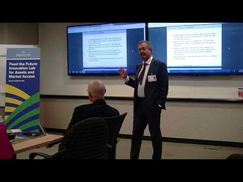 AMA Innovation Lab Director Michael Carter presents at USAID seminar on Index Insurance