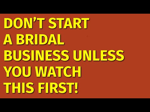 How To Start A Bridal Business   Including Free Bridal Business Plan Template