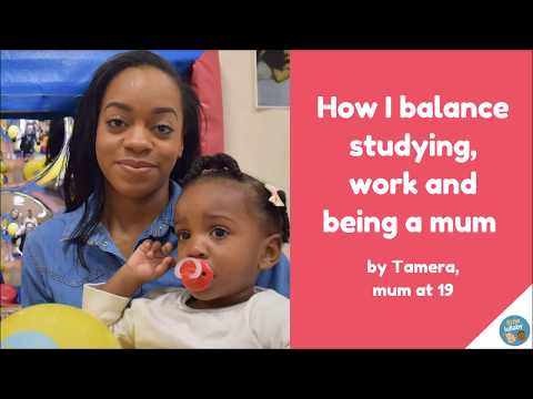 How I balance studying, work and being a mum.