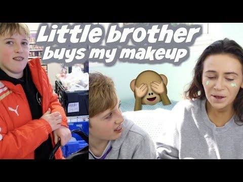 LITTLE BROTHER BUYS MY MAKEUP & CHOOSES THE ORDER